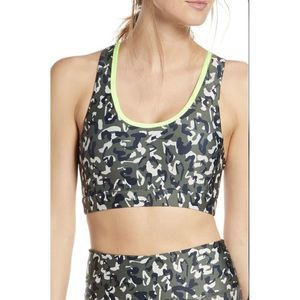 Soul By Soul Cycle Leopard Camo Sports Bra Sz Sm